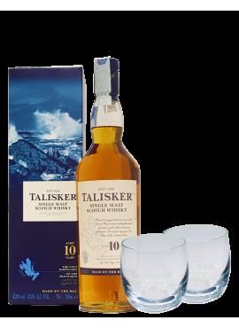 Talisker Single Malt 10 y.o. + 2 Bicchieri