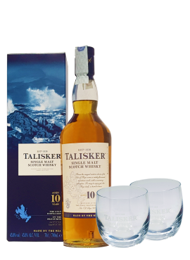 Talisker Single Malt 10 y.o. + 2 Bicchieri