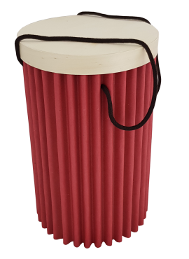 Scatola Dorica bassa rossa