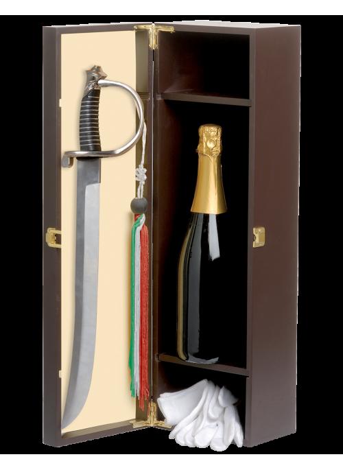 Cassetta sciabola e bottiglia